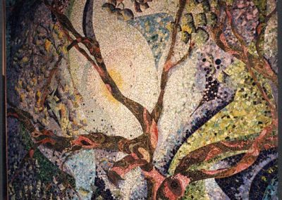 """""""Orchard Tree"""" Wall mosaic of ceramic glass & copper"""