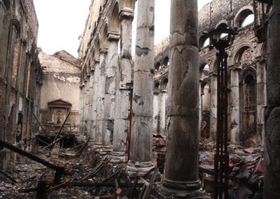 The Cathedral after the fire.